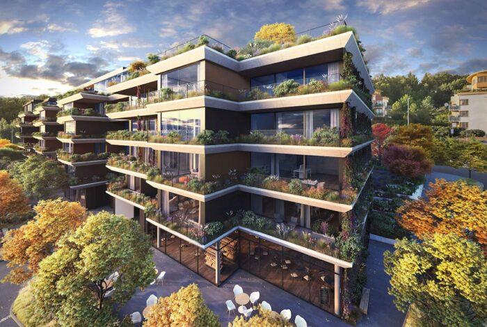 Nádherný prjektu Sakury od zahradních architektů Flera design je plný bohaté zeleně