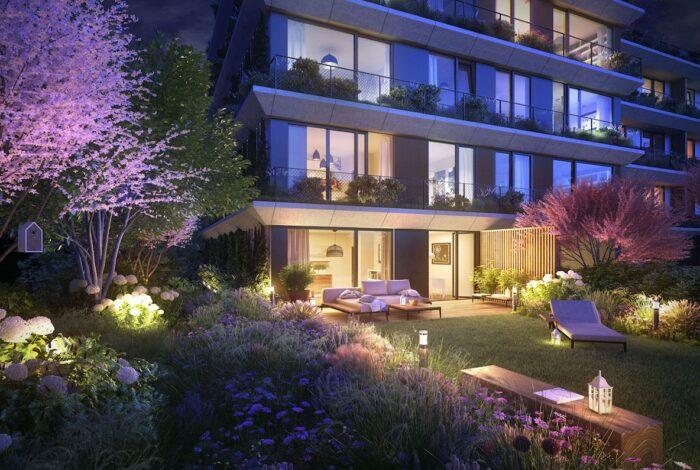 Projekt zahradních architektů z atelieru Flera s názvem Sakura je nádherný i večer