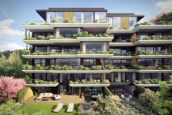 Projekt Sakura od Flera design se honosí neobvyklým množstvím zeleně