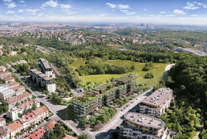 Letecký pohled na projekt Sakura od Flera design - klenot zahradnické architektury
