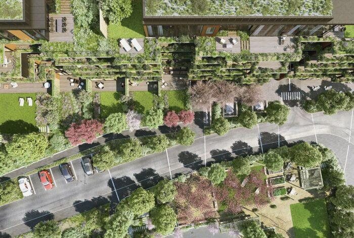 Nevídané množství zeleně dominuje projektu Sakura od zahradních architektů Flera design